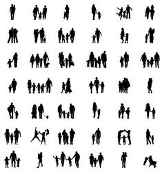 families at walking vector image