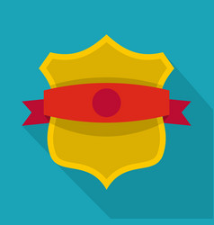 badge classic icon flat style vector image vector image