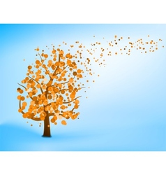Blue orange abstract tree vector