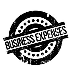 Business expenses rubber stamp vector