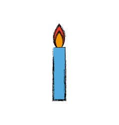 Candle flame light abstract decoration icon vector