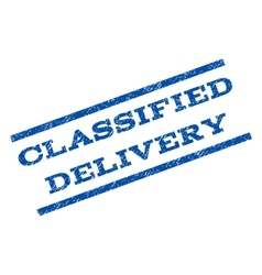 Classified delivery watermark stamp vector