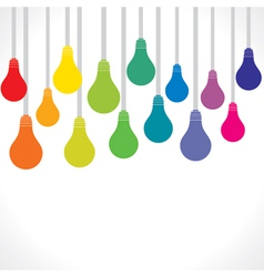 colorful bulb background vector image