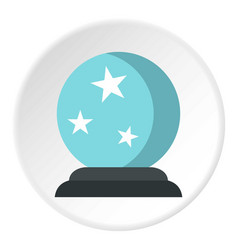 Crystal ball icon circle vector
