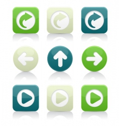 directional arrow icons vector image vector image