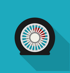Flat tire icon vector