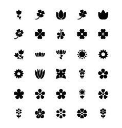 Flowers or floral icons 5 vector