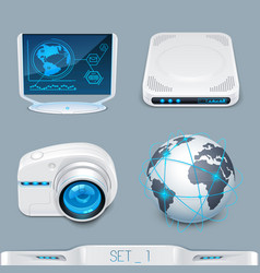 futuristic multimedia devices and technology vector image vector image