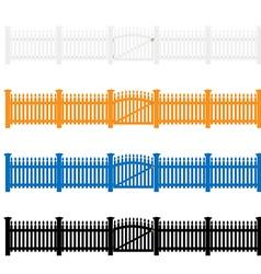 Garden fences vector image