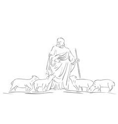 Holy pastor shepherd vector
