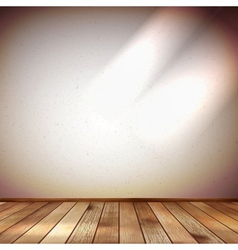 Light wall with a spot illumination EPS 10 vector image vector image