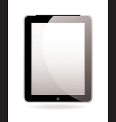 modern hand held computer tablet vector image vector image