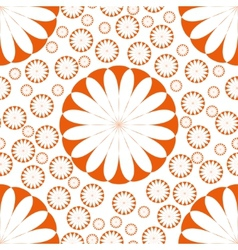 Orange Flower Seamless Pattern vector image vector image
