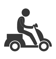 Person pictogram riding pictogram icon image vector