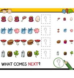 Preschool educational pattern task vector