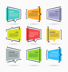 Quote speech bubbles set vector