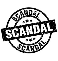 Scandal round grunge black stamp vector