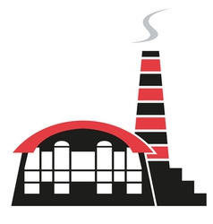 Silhouette of factory vector image