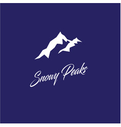 snowy peaks logo mountain emblem vector image