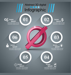 Stop no 3d realistic icon business infographic vector