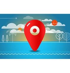 Travel Travel destination concept vector image vector image