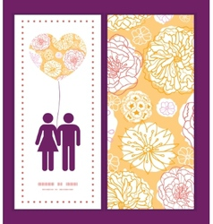 warm day flowers couple in love silhouettes vector image vector image