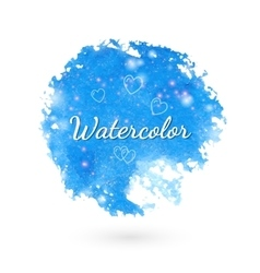 Watercolor style design elements vector