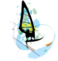 Windsurfing vector