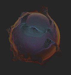 Abstract mesh on dark background vector