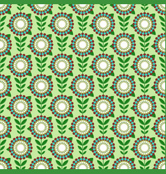 Simple flower pattern vector