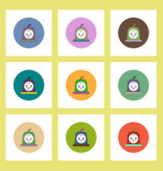 Flat icons halloween set of bloody jelly concept vector