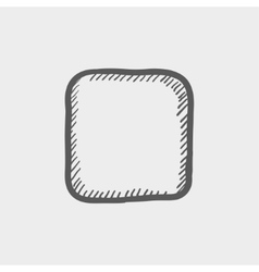 Stop button sketch icon vector
