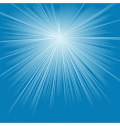 Blue light rays vector