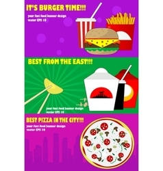 Banners for the fast-food vector