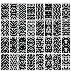 Set of 32 patterns vector