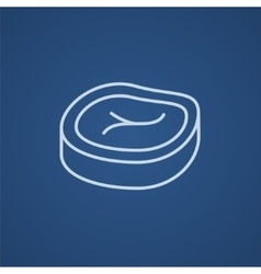 Steak line icon vector