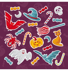 Set of abstract halloween icons vector