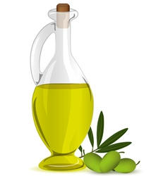 Olive bottle vector image