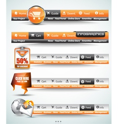 Web button bars vector