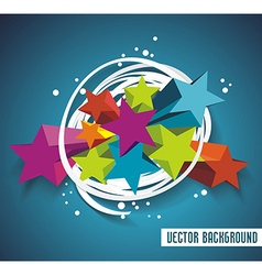 Abstract background with stars and ribbon vector
