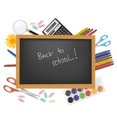 back to school black desk vector image vector image
