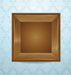 beautiful wooden frame vector image vector image
