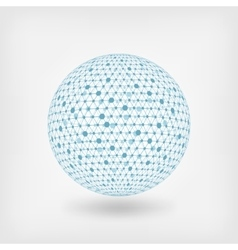 blue sphere network vector image