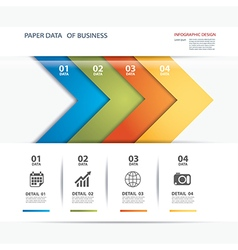 Business infographic element data template vector