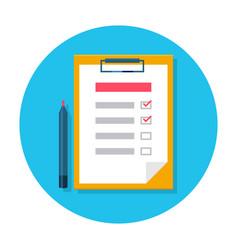 Checklist flat icon vector