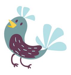 Cute bird cartoon colorful vector