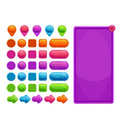 Cute colorful abstract assets for game or web vector