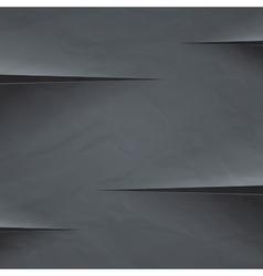 Dark grey crumpled paper cut background vector