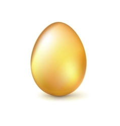 Golden Easter egg vector image vector image