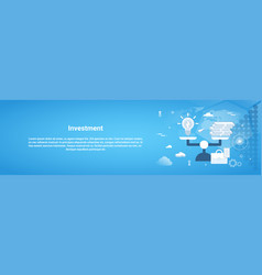 investment money business horizontal web banner vector image vector image